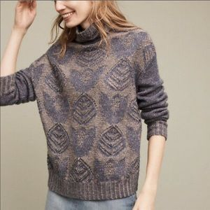 Anthro HENSEL FROM BASEL foliage open knit sweater